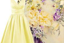 Lemon & Yellow Bridesmaid Dresses