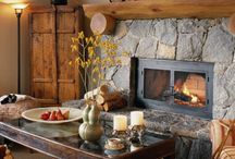 Fireplaces and rustic homes. / by Michael Casey