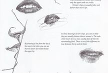 How to draw: Mouth & Nose