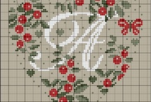 Monogramas en cross stitch