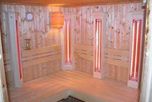 Finn szauna átépítés / Meglévő finn szauna átépítése és kiegészítése infrasugárzókkal és himalájai sótéglákal