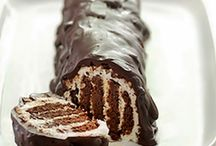 Chocolate log cake / Chocolate log cake