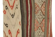 "Kilim Pillows / Cut from vintage Turkish kilim flat weave rugs, Kilim Pillows are the ""it"" accessory for your home!"