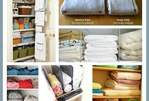 organised cupboards/rooms