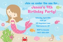 Mermaid Party Ideas / mermaid party ideas • mermaid invitation ideas • mermaid cake ideas • mermaid decoration ideas • mermaid party supplies • mermaid party favor ideas and more!
