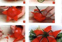 украшение помидорами