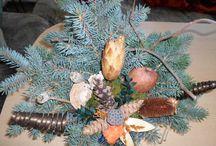Meine Grab - und Weihnachtsdeko 2014 / Eigene floristische Arbeiten