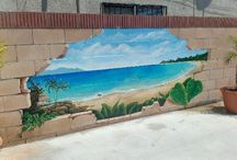 Murals for fence