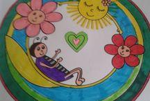 Inspirace na malování / Mandaly kulaté