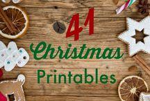 Christmas printables / Free Christmas printables