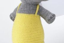 Knitted toys- trauma teddies / knitting toys for police to hand out to kinds involved in traumatic situations.