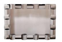 Modern Torat Curved Facet Frame Wall Mirror With Rectangular Shape