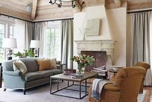 Living Rooms / We call this our white room. A blend of traditional and Hampton style in a quaint space. ❤ / by Linda Barta Clevenger