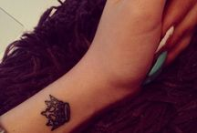 crown tattoo ideas and flowers