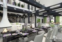 Дизайн интерьера в загородном доме / Дизайн проекты интерьеров в коттеджах
