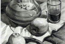 Рисунок учебный натюрморт