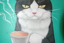 Funny Cat Painting