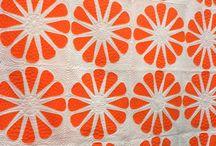Orange quilts