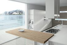 Modern kitchen bench tops