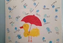 rain baby shower theme