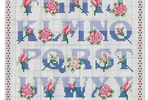 Cross stitch patterns - Alphabets, & Monograms