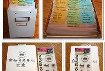 Getting organised / Ideas for craft room organisation