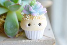 Cupcakes from polymer clay