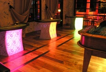 illuminated glow casino tables / Our illuminated glow tables add a touch of sophistication to any event.  Give your clients that added touch they deserve!