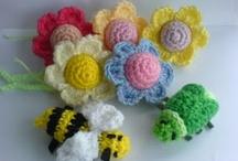 Haken/Crochet - bloemen en harten