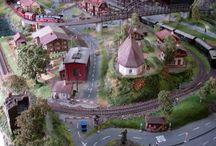 1/87 HO scale Train diorama