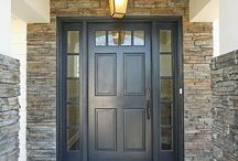 Front door ideas / Mostly colors for the front door. / by Cammie Huntley