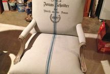 Chalk Paint over Fabric