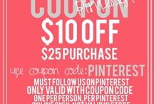 Coupon Codes for our Friends / by UnderTheCarolinaMoon