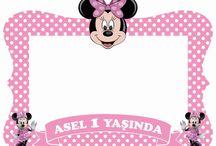 Minnie mouse frame / Digital file