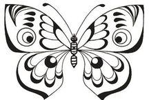 Různé šablony(motýli ap.)
