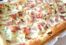 hartige taarten en pizza