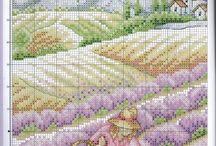 cross stitch Lavender