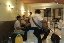 Katilla / Párkányban jártunk, a Hotel Thermálban. A staff: Bacu, Molnár Zoli és Orsi, Gajmó Band