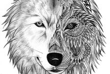 Волки Wolfs / wolf,  tattoo,  arts, pictures