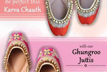 Women's Punjabi Juttis! / Quintessential Ethnic Accessory! Check out our designer collection of Juttis at ShoeMuch.
