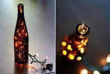 Wine bottle art / Wine bottle art