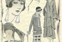 vestidos vinatge dibujos