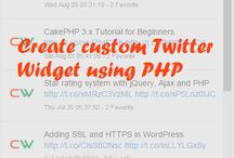 Twitter & PHP / Twitter with PHP tutorials