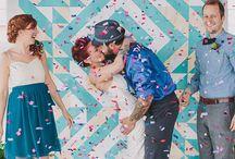 Геометрия в свадебном декоре