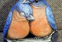 oblázek ptáčci