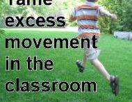 Using Movement in the Classroom / Sensory Integration ideas for students who are in constant motion.