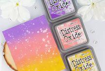 My cardmaking: Distress Oxide Inks / Tim Holtz Ranger Distress Oxide Inks