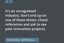 Reno Quotes / Some of our favourite #renovation quotes.