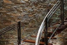 ESCALIER PIERRE | STAIRS STONE / Voici un espace où nous glanons des idées de décoration murale en parement pierre naturelle et aussi des exemples de nos réalisations. Soit sur inspiration du client, d'un architecte, d'un conseil de notre équipe.