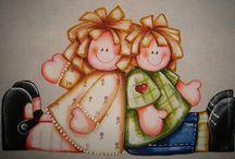 **Pinturas em tecido**
